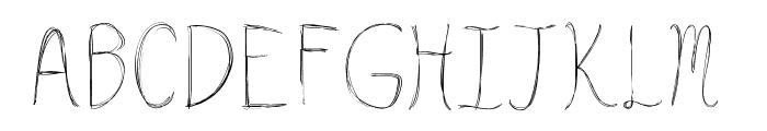 HsfLazyStrokes Font UPPERCASE