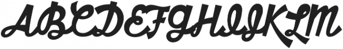 HT Motel Regular otf (400) Font UPPERCASE
