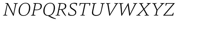 HT Carat Extra Light Italic Font UPPERCASE