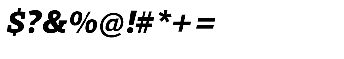 HT Foro Extra Bold Italic Font OTHER CHARS