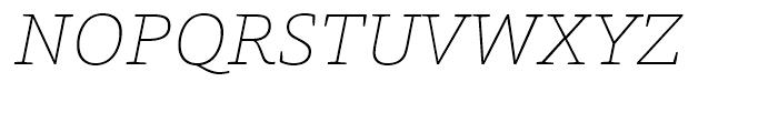 HT Foro Thin Italic Font UPPERCASE