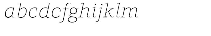 HT Foro Thin Italic Font LOWERCASE