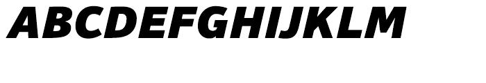 HT Sonus Black Italic Font UPPERCASE