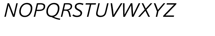 HT Sonus Light Italic Font UPPERCASE