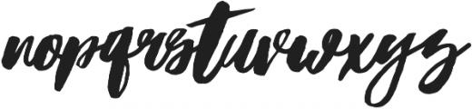 Hubster otf (400) Font LOWERCASE