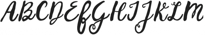 Huckleberry otf (400) Font UPPERCASE