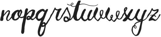 Huckleberry otf (400) Font LOWERCASE