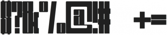 Huge Display Regular otf (400) Font OTHER CHARS