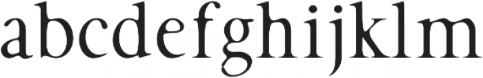 Hughe Smooth otf (400) Font LOWERCASE
