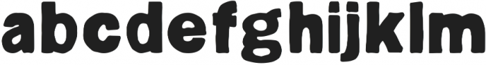 Hugo ttf (700) Font LOWERCASE