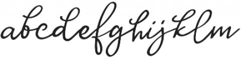 Huh Girls Regular otf (400) Font LOWERCASE