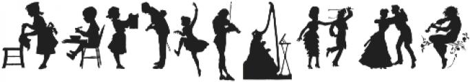 Human Silhouettes Three ttf (400) Font OTHER CHARS