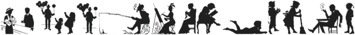 Human Silhouettes Three ttf (400) Font UPPERCASE
