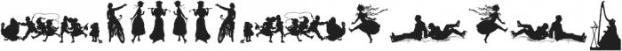 Human Silhouettes Three ttf (400) Font LOWERCASE