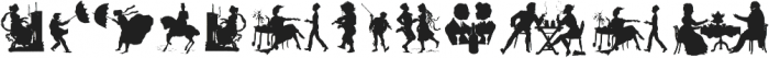 Human Silhouettes Two ttf (400) Font LOWERCASE