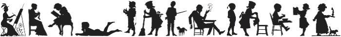 Human Silhouettes ttf (400) Font UPPERCASE