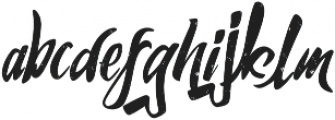 Humblle Rought otf (400) Font LOWERCASE