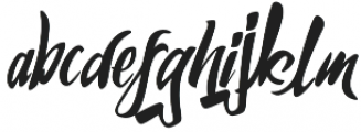 Humblle otf (400) Font LOWERCASE
