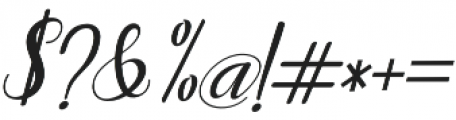 Humilde italic Italic otf (400) Font OTHER CHARS