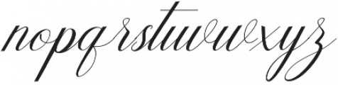 Humilde italic Italic otf (400) Font LOWERCASE