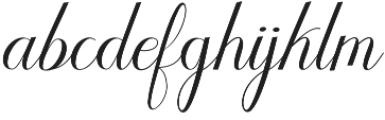 Humilde  script otf (400) Font LOWERCASE
