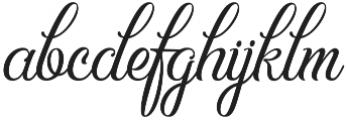 Hummington otf (400) Font LOWERCASE