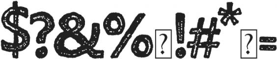 Humongous otf (400) Font OTHER CHARS