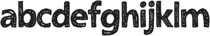 Humongous otf (400) Font LOWERCASE