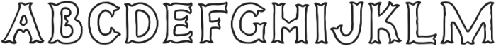 Humoresque A Inset otf (400) Font UPPERCASE
