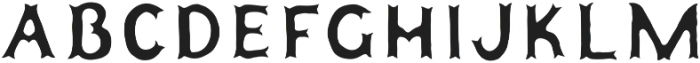 Humoresque A Inset ttf (400) Font LOWERCASE