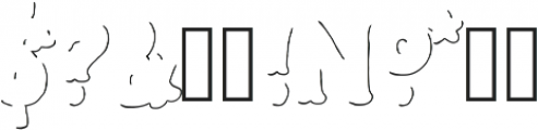 Humoresque LineShadow ttf (400) Font OTHER CHARS