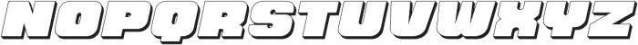 Hunk Outline otf (400) Font UPPERCASE