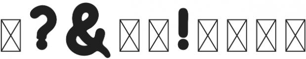 Huntsman Sans Serif Bold otf (700) Font OTHER CHARS