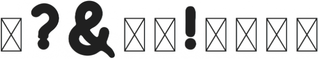 Huntsman Sans Serif Bold ttf (700) Font OTHER CHARS