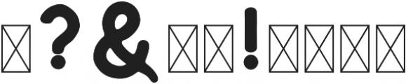 Huntsman Sans Serif Medium otf (500) Font OTHER CHARS