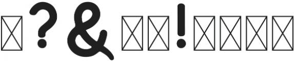 Huntsman Sans Serif Regular otf (400) Font OTHER CHARS