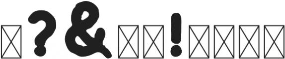 Huntsman Textured Bold ttf (700) Font OTHER CHARS