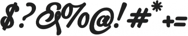 Hurley 1967 Script Bold otf (700) Font OTHER CHARS