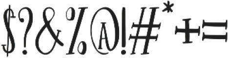 Hurly Serif otf (400) Font OTHER CHARS