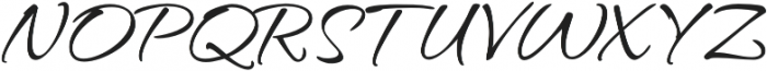 Hurricane Pro otf (400) Font UPPERCASE