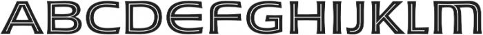 Husk Inline otf (400) Font LOWERCASE