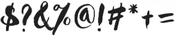 Hustle Script Regular otf (400) Font OTHER CHARS