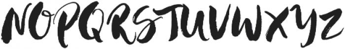Hustle Script Regular otf (400) Font UPPERCASE