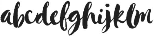 Hustle Script Regular otf (400) Font LOWERCASE