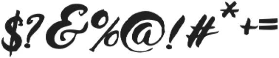 Husty Brush Regular otf (400) Font OTHER CHARS