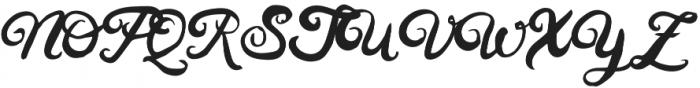 Husty Brush Regular otf (400) Font UPPERCASE