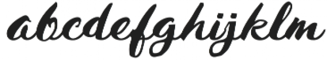 Husty Brush Regular otf (400) Font LOWERCASE