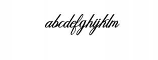 Humilde italic bold.ttf Font LOWERCASE