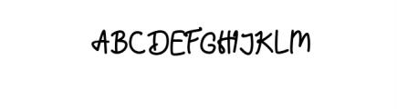 Hummingbird - Regular Font UPPERCASE