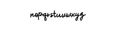 Hummingbird - Regular Font LOWERCASE